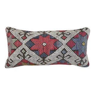 1960s Vintage North Star Kilim Lumbar Pillow For Sale