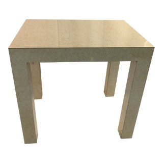 1980s Minimalist Beige Laminate Side Table For Sale