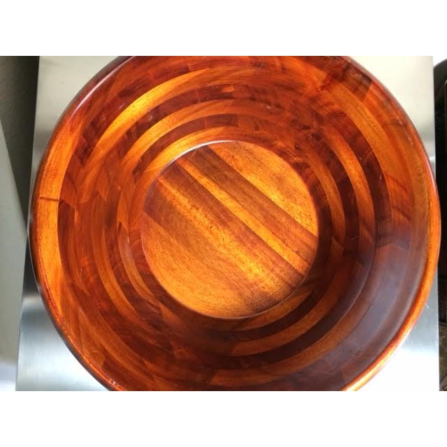 Asian Pomerantz Wood Serving Bowl For Sale - Image 3 of 6