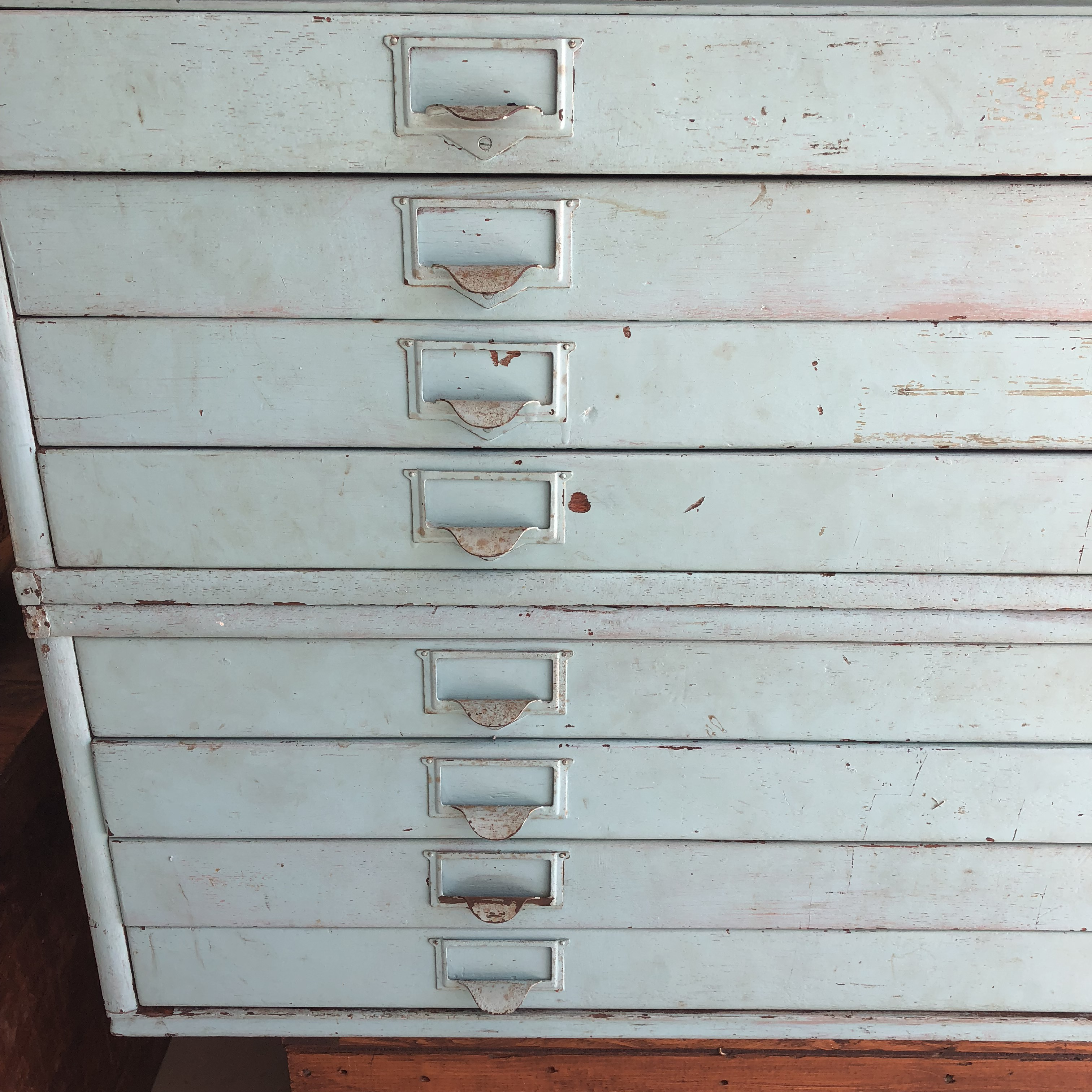 Fantastic Wood Map Cabinet With Metal Top And Wooden Base. Has Been Paired  A Pretty
