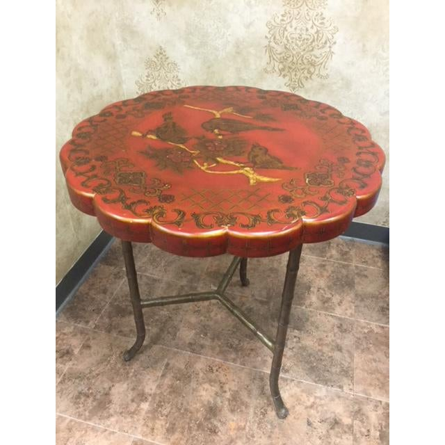 Maitland - Smith 20th Century Chinoiserie Maitland-Smith Hand Painted Side Table For Sale - Image 4 of 4