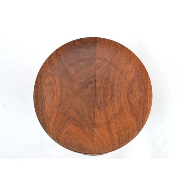 Wood Vintage Eames Walnut Time Life Stool Model B, Circa 1960s For Sale - Image 7 of 11
