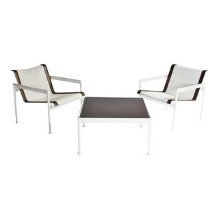 Richard Schultz 1966 Collection Lounge Chair and Cocktail Table For Sale
