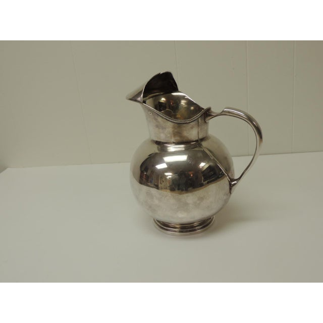 Late 20th Century Polished Argentinian Sterling Silver Water Pitcher With Handle. For Sale - Image 5 of 5
