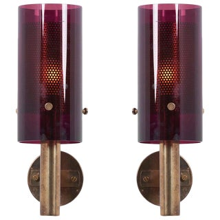 Pair of Wall Lamps V-147 by Hans-Agne Jakobsson for Ab Markaryd, Sweden, 1960s For Sale