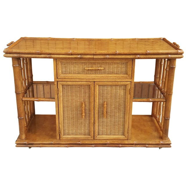 American of Martinsville Faux Bamboo Server For Sale