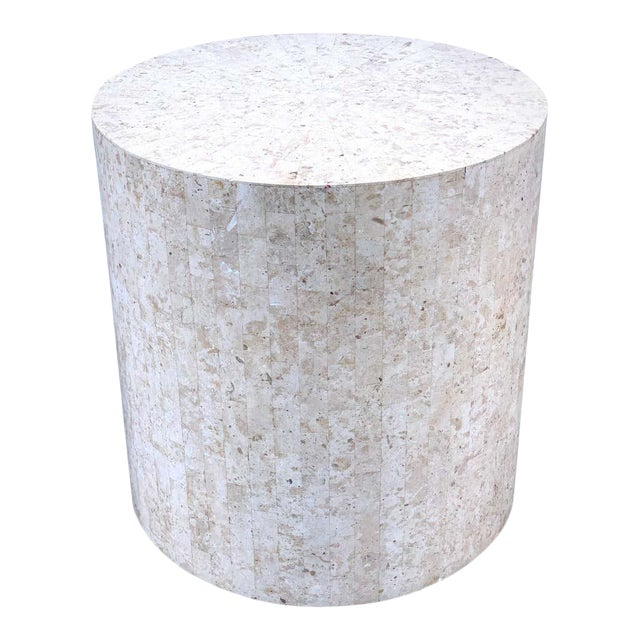 Late 20th Century Modern Tessellated Stone Pedestal by Maitland-Smith For Sale