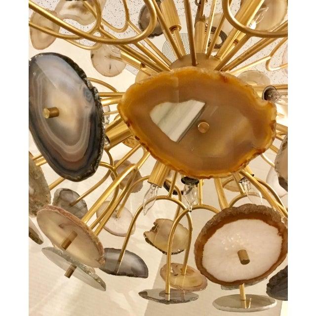 Modern John Richards' Modern Agate Sliced Orb Chandelier For Sale - Image 3 of 8