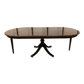 Vintage Drexel Heritage Duncan Phyfe Dining Room Table For Sale