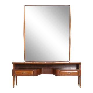 Mid Century Italian Vanity With Large Mirror