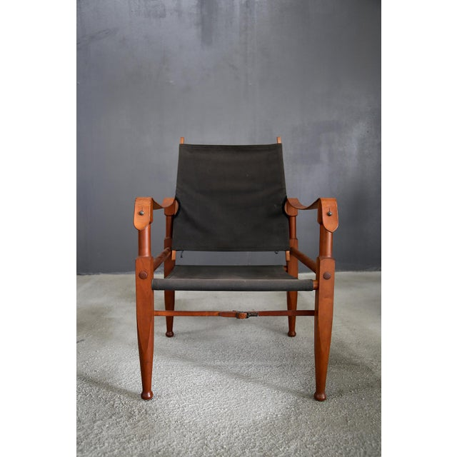 Kaare Klint Safari chair by Rud. Rasmussen. Kaare Klint designed this chair in 1940 . Being one of the world's first...