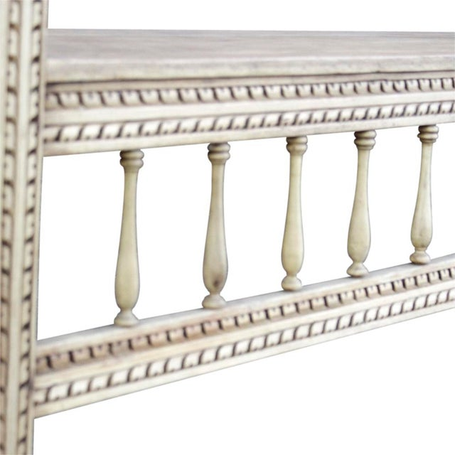 Mediterranean Spanish Colonial Carved High Back Bench For Sale - Image 3 of 5