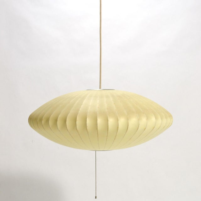 1960s George Nelson Medium Saucer Bubble Lamp by Howard Miller For Sale - Image 5 of 6