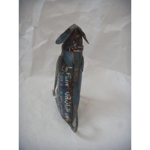 Reclaimed Steel Dog Sculpture - Image 4 of 5