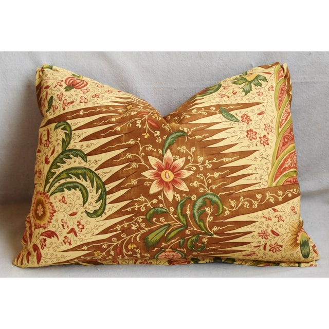 "Early 21st Century Designer French Pierre Frey La Riviere Feather/Down Pillow 22"" X 16"" For Sale - Image 5 of 6"