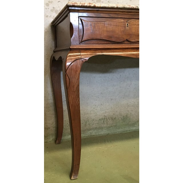 19th French Three Drawers Console Table With Top Marble For Sale - Image 9 of 11
