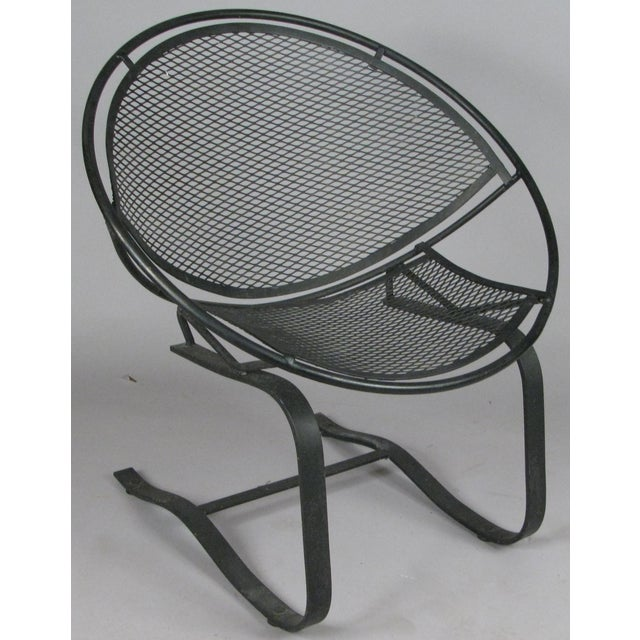 Metal Wrought Iron Radar Lounge Chairs by Salterini, Circa 1950 - a Pair For Sale - Image 7 of 8