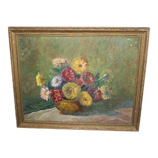 Vintage Floral Still Life For Sale