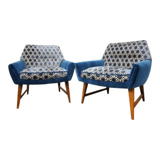 Illum Wikkelso Att. Petite Club Chairs - a Pair For Sale