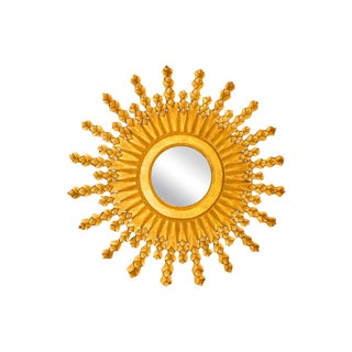 Matte Gold Sunburst Mirror
