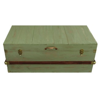 Sage Hope Chest Coffee Table Trunk For Sale
