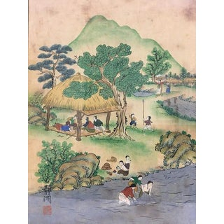 Late 19th / Early 20th Century Chinese Export Painting on Paper For Sale