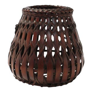 Japanese Small Wall Basket For Sale