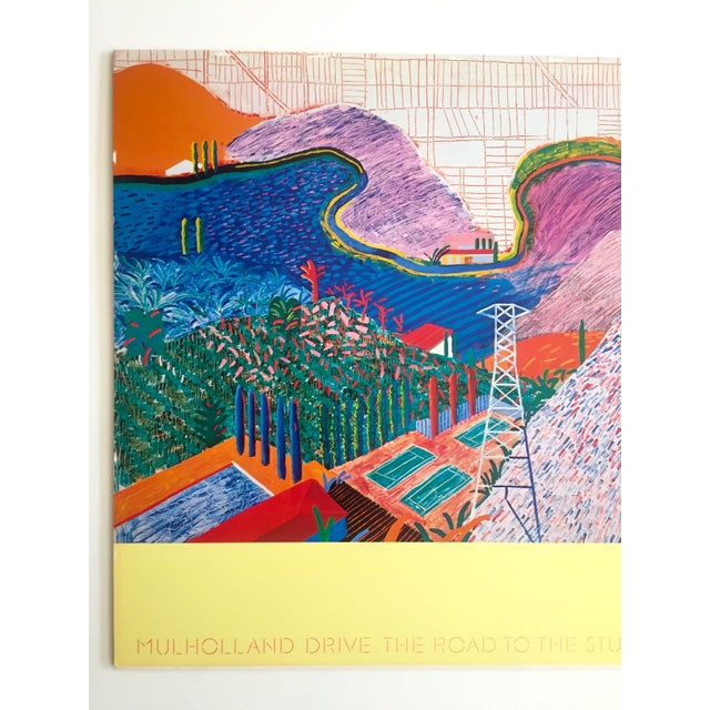 This rare vintage 1980 original collotype print LACMA Museum David Hockney poster is an incredibly special and unique...