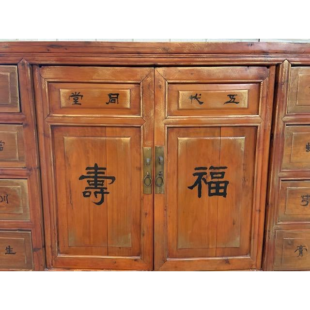 Antique Authentic Asian Multi Drawer Medicine Cabinet For Sale In Chicago - Image 6 of 11