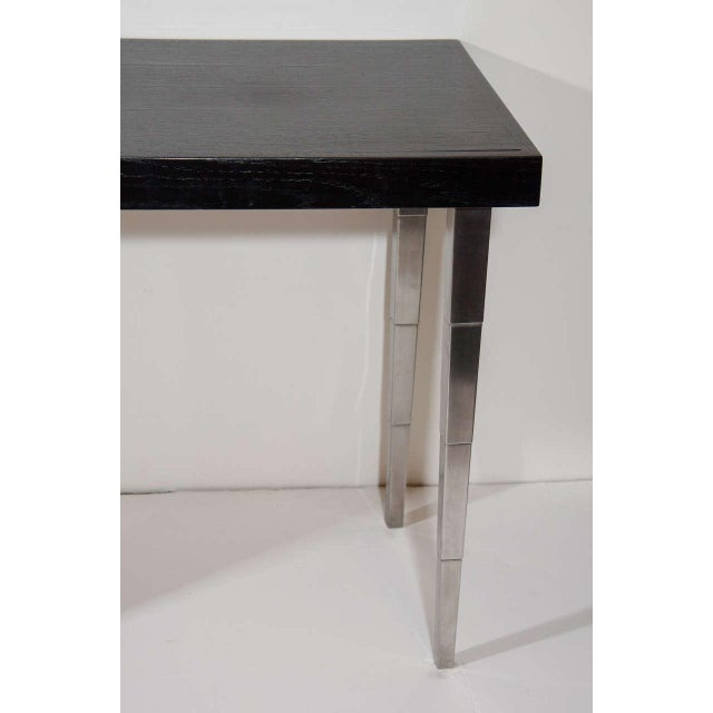 Aluminum Art Deco Vanity Table and Desk by Robsjohn-Gibbings for Widdicomb For Sale - Image 7 of 7