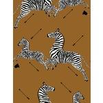 Scalamandre Zebras, Safari Brown Wallpaper