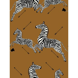 Scalamandre Zebras, Safari Brown Wallpaper For Sale