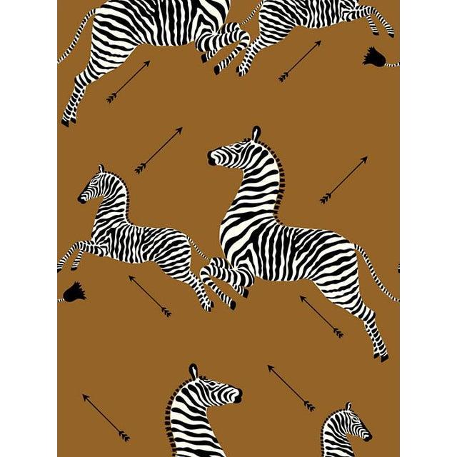 Scalamandre Zebras, Safari Brown Wallpaper For Sale
