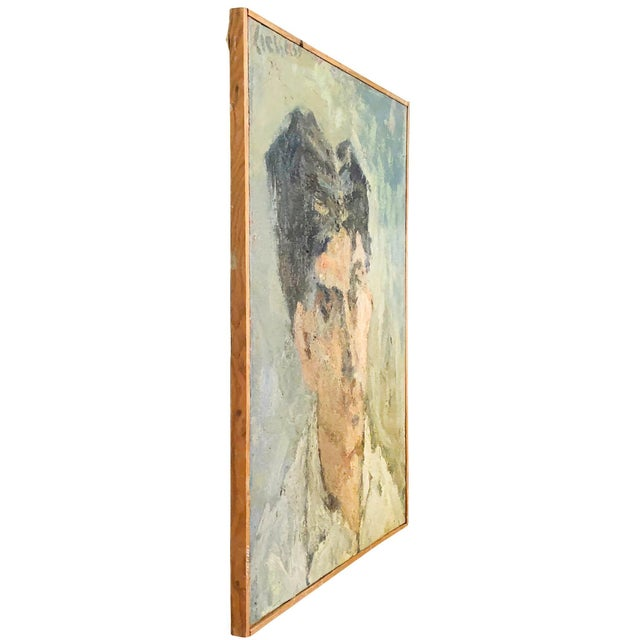 A small self-portrait, oil on wood in canvas by Daniel Clesse, painted in France, signed and dated in 1959. Daniel Clesse...