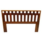 Image of 1960s Mid Century Modern Queen Lane Walnut and Rosewood Headboard For Sale