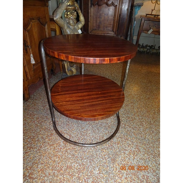 Auburn Art Deco French Side Table For Sale - Image 8 of 13