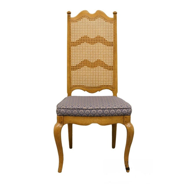 Thomasville Furniture Chateau Collection Cane Back Dining Side Chair For Sale - Image 10 of 10