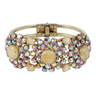 Rhinestone Clamp Bracelet For Sale