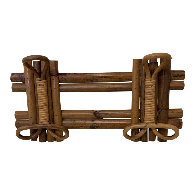 Italian Bamboo Hat or Towel Rack For Sale