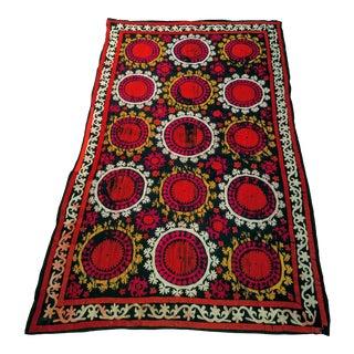 1950s Vintage Silk Suzani Textile For Sale
