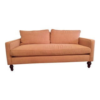 1960s Vintage Lawson Style Blush Pink Down Sofa For Sale