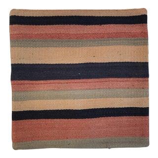 Turkish Striped Wool Kilim Pillow