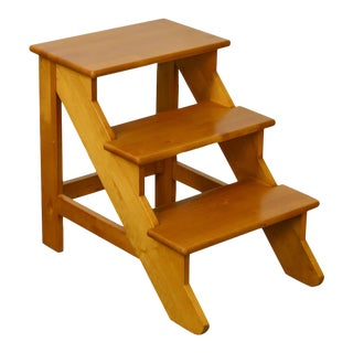 Levenger Solid Maple Wood Set of Library Steps