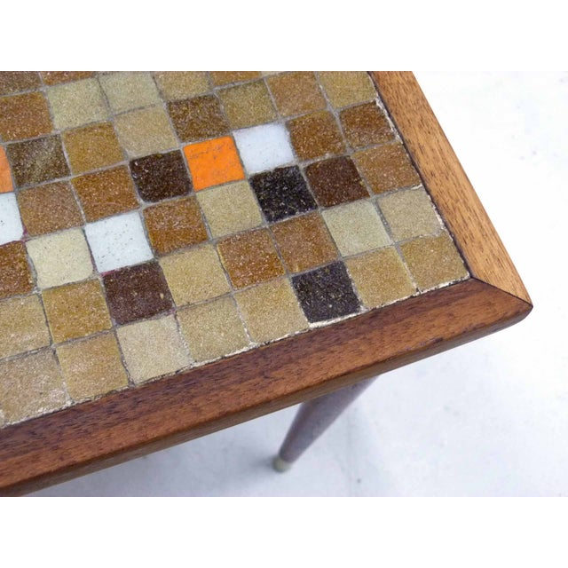 Mid Century Mosaic Tile Side Table - Image 6 of 7