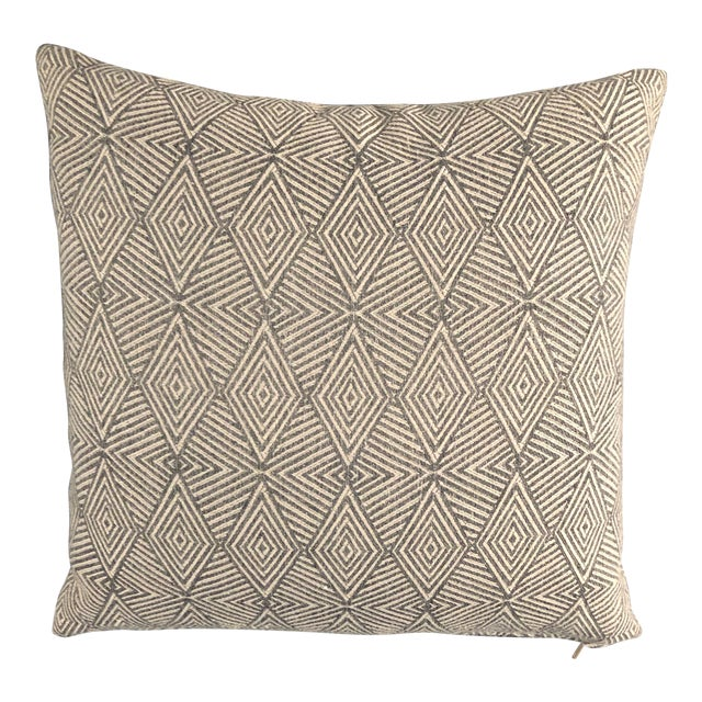 Modern Pillow/Carbon Triad Fabric For Sale