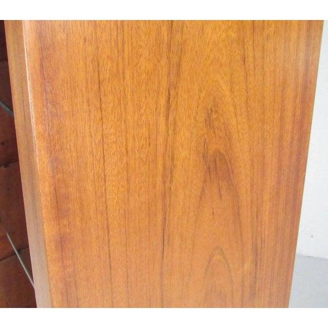 Pair of Scandinavian Modern Teak Display Cabinets For Sale - Image 9 of 10