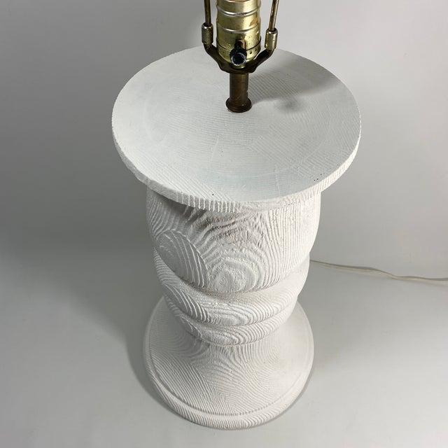 Monumental 1989 Bon Art Faux Bois Plaster Lamp For Sale In New York - Image 6 of 13