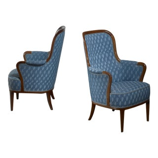 Pair of Swedish Modern Armchairs For Sale