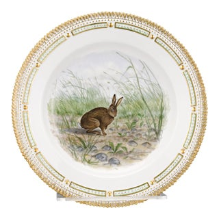 Flora Danica Rabbit Dinner Plate For Sale