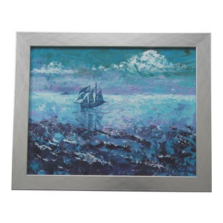 Irish Seascape Painting by Celeste Plowden For Sale